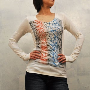 Image of Flowers that Bloom at Nigh Longsleeve Vneck