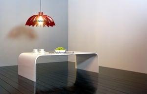 Image of Acrylic Coffee Table UK White Acrylic