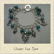 Image of 'Under the Sea' Ocean Themed Charm Bracelet