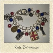 Image of 'Rule Britannia' British Themed Charm Bracelet