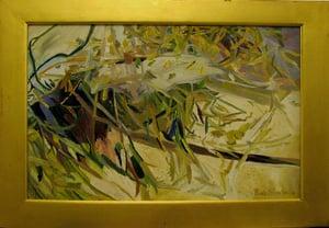 Image of Oil on Canvas: Landscape Recording Shoal Creek VII/ Psalm 5