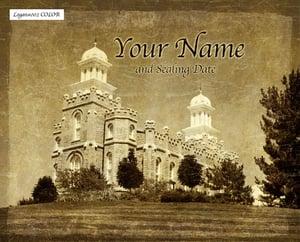 Image of Logan Utah LDS Mormon Temple Art 002 - Personalized LDS Temple Art