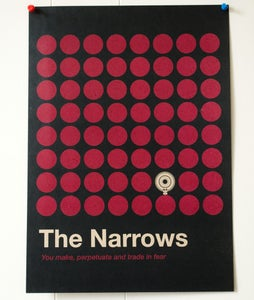 Image of The Narrows Red Dot Poster - A3