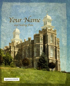 Image of Logan Utah LDS Mormon Temple Art 003 - Personalized LDS Temple Art