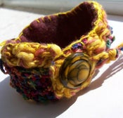 Image of Colorful Crocheted Cuff Bracelet