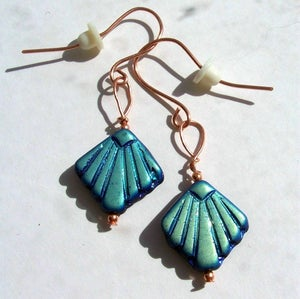Image of Pretty Copper and Glass Bead Earrings