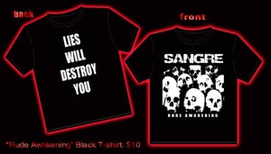 "Image of ""Rude Awakening"" SANGRE T-Shirt"