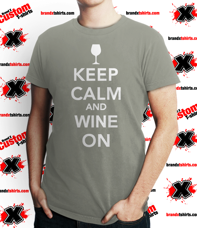 Image of Keep Calm, Wine On -Mens