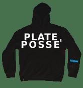 Image of Plate Posse' Hoodie: Black/ White