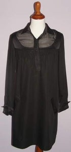 Image of Philosophy Di Alberta Ferretti Long Sleeve Casual Chic Black Dress