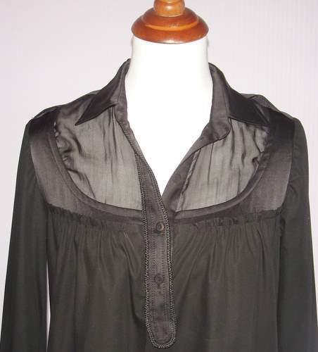 Image of Philosophy Di Alberta Ferretti Long Sleeve Casual Chic Black Dress