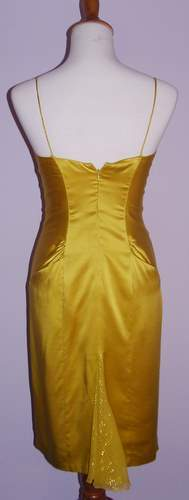 Image of Nicole Miller Collection Gold Panel  Cocktail Dress