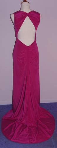 Image of Nicole Miller Fuschia Evening Gown