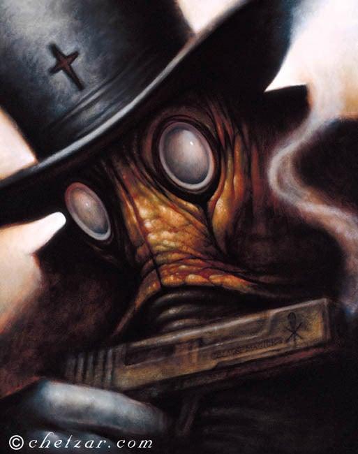 "Black Magick- Canvas Giclee 11x14"""