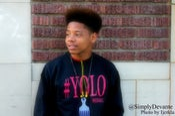 Image of BLACK/RED #YOLO CREWNECK