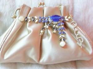 Image of Embellished Satin Handbag