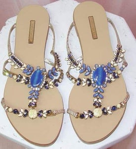 Image of Mario Bologua Jeweled Sandals