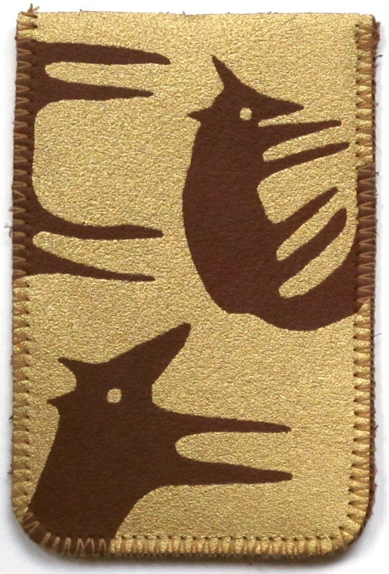 Image of Gold and Brown Foxes Card Holders