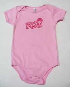 Image of Pretty in Pink Supercute Baby Girl Onesie