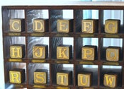 Image of pick-your-own gilded letter blocks, largest size