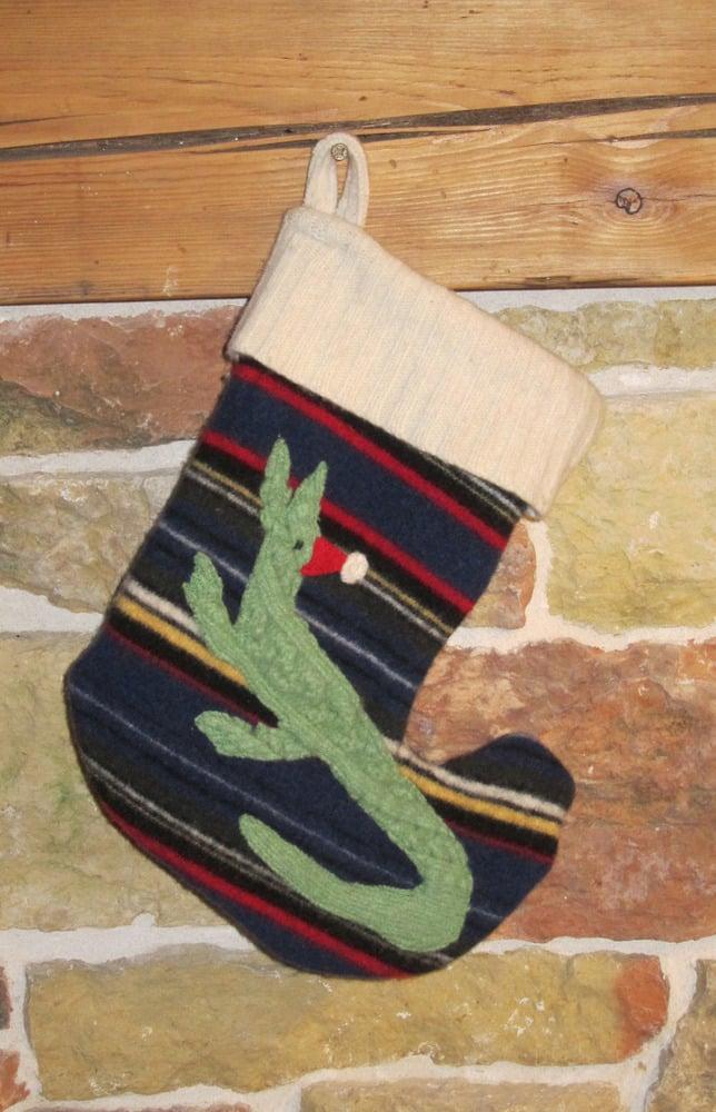 Image of Striped Holiday Crocodile