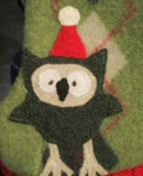 Image 2 of Holiday Owl on Green Argyle