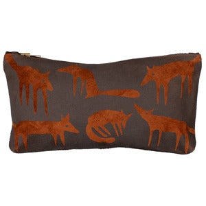 Image of Suede Brown Fox Large Purse