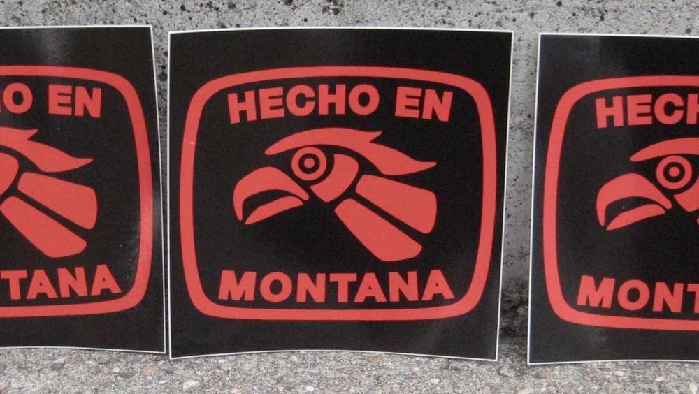 Image of Sticker: Hecho En Montana