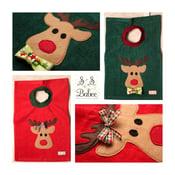 Image of Christmas Reindeer Applique Towel Bib