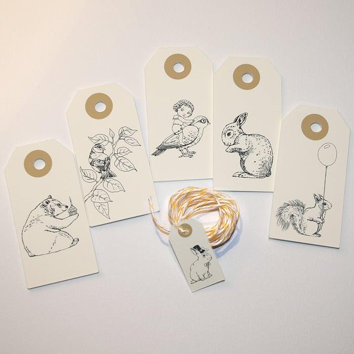Image of Etiquettes cadeaux Animaux 2