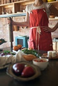 Image of Handmade Linen Apron with Detachable Pocket by Amy Bem