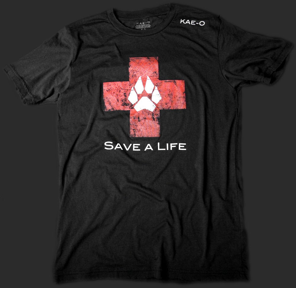Image of Save-A-Life Men's Vintage Tee - Black