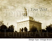 Image of Nauvoo LDS Mormon Temple Art 001 - Personalized Temple Art