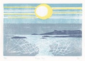 Image of Eigg Sun, Hand printed, Limited Edition Woodcut