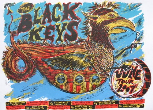 The Black Keys 2007 Tour poster