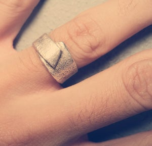 Image of Reticulated Silver Ring Resizable
