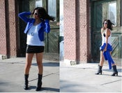 Image of Electric Blue Suede Jacket