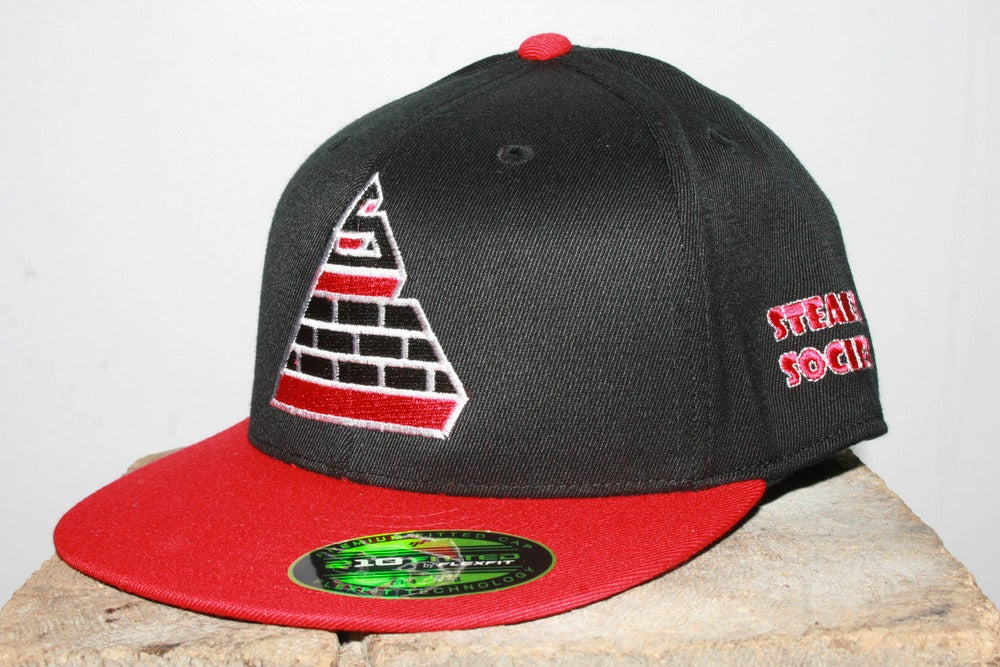 Image of Logo Fitted BLK/RED