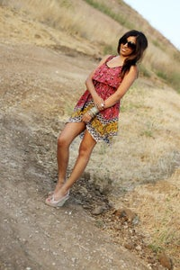 Image of Chiffon Floral Dress