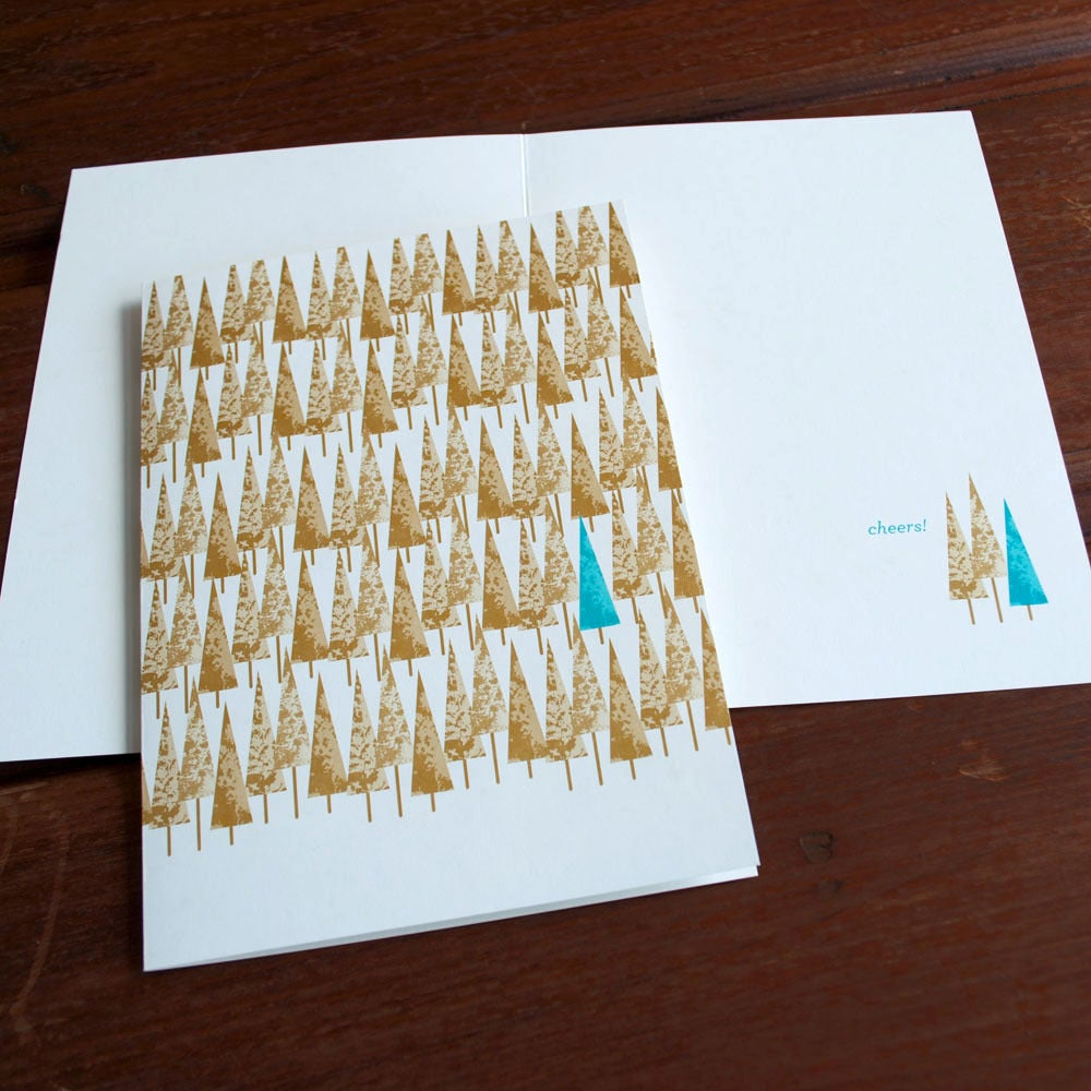 Image of Triangle Trees Card