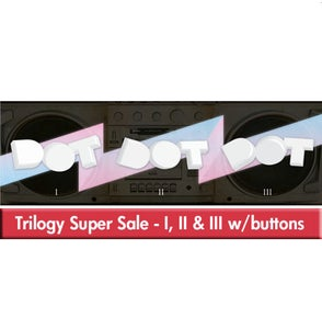 Image of I II III Trilogy EP/Button Combo SUPER SALE PRICED