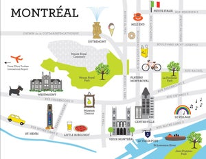 Image of Map of Montreal