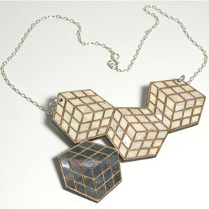 Image of Large Cube Necklace
