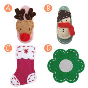 Image of big girl hair clips holiday #1
