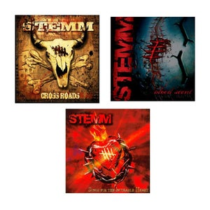 Image of 3 CD's COMBO + FREE STICKER - SHIPS WORLDWIDE