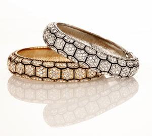 Image of Crown Jewel Swarovski Crystal hinge bracelet