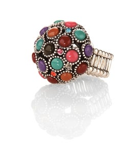 Image of Bauble bubble ring matches fanciful bracelet