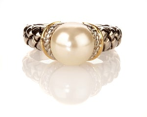 Image of Pearl of David ring