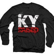Image of LONG SLEEVE Ky Raised in Black, White & Red