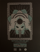 "Image of ""Spookedelic"" Silk Screen Show Poster"